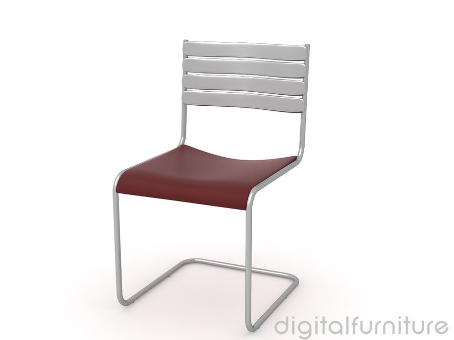 Dining Chair 28 royalty-free 3d model - Preview no. 2