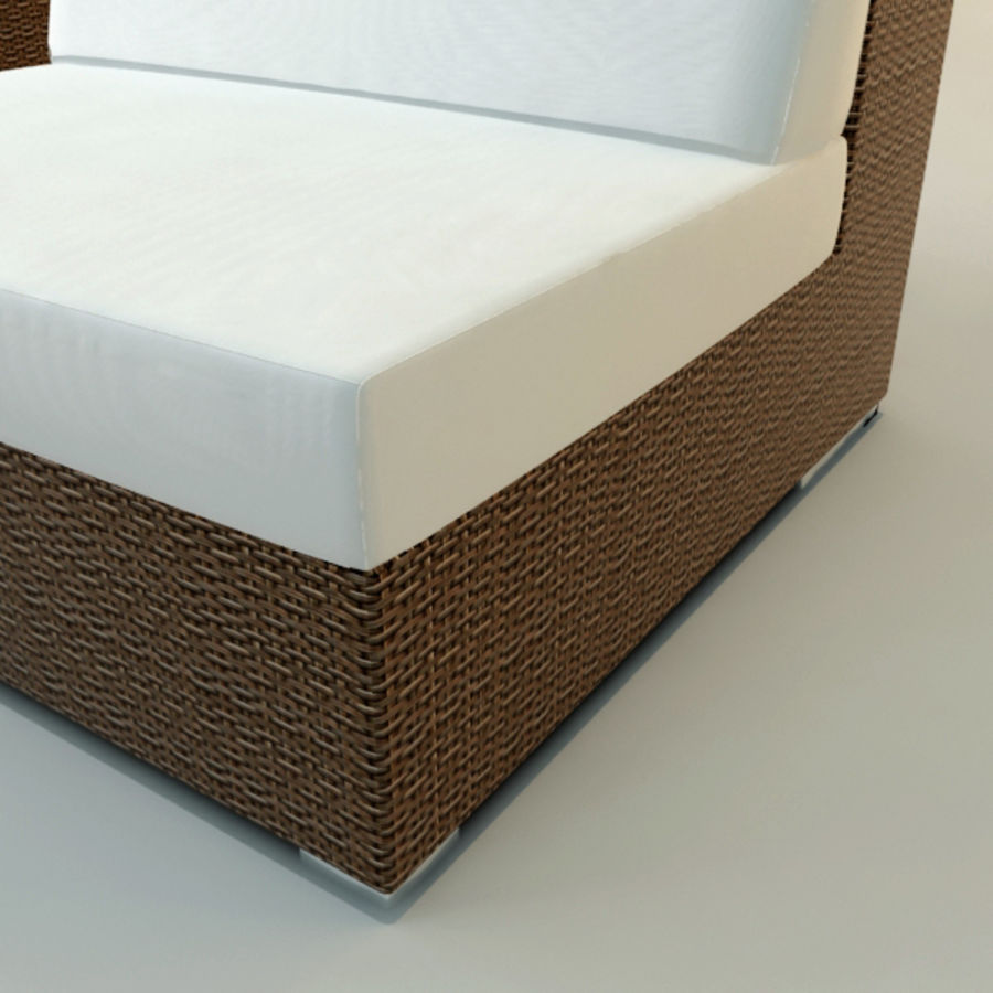GARDEN COUCH LOUNGER royalty-free 3d model - Preview no. 4