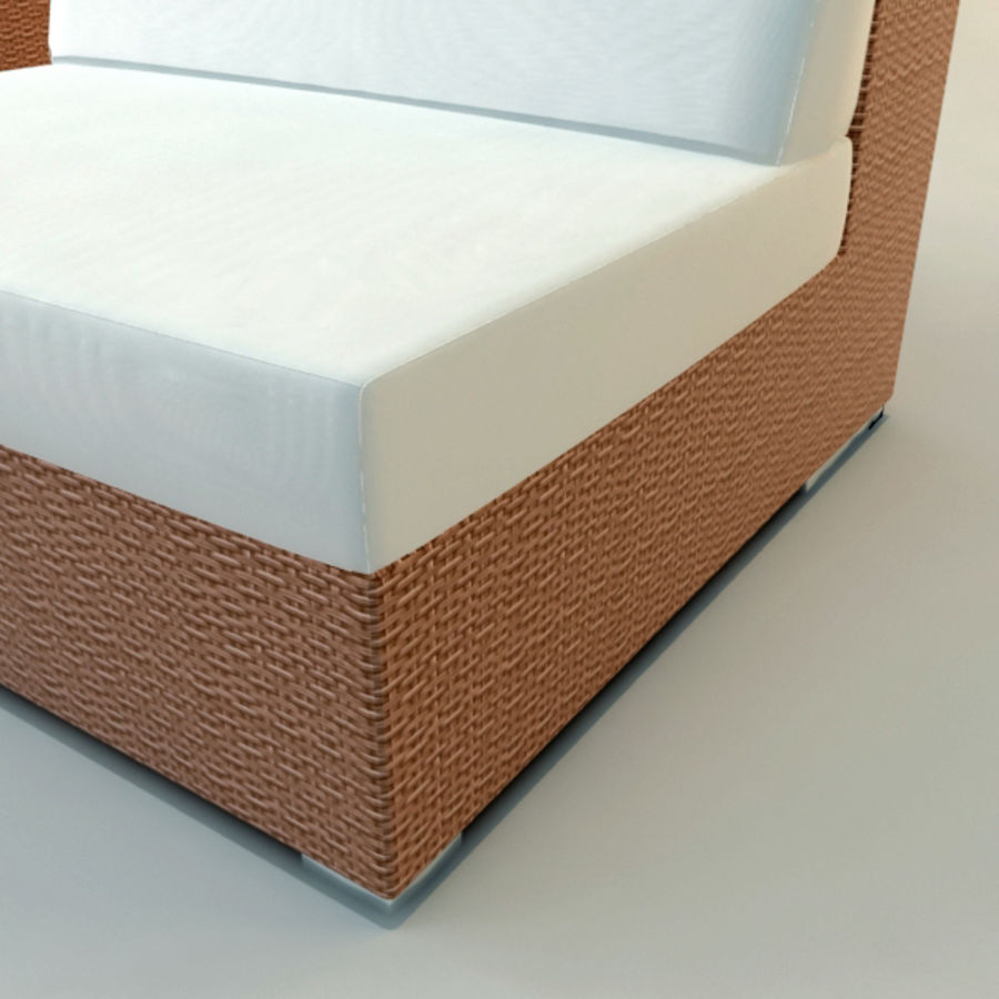 GARDEN COUCH LOUNGER royalty-free 3d model - Preview no. 3
