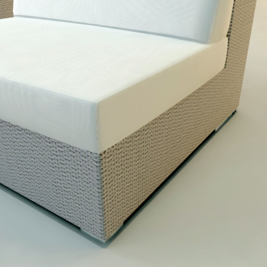 GARDEN COUCH LOUNGER royalty-free 3d model - Preview no. 5