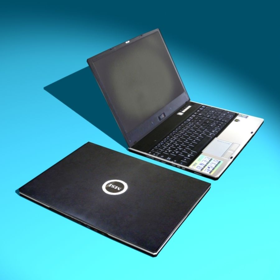 Msi Notebook Laptop royalty-free 3d model - Preview no. 2