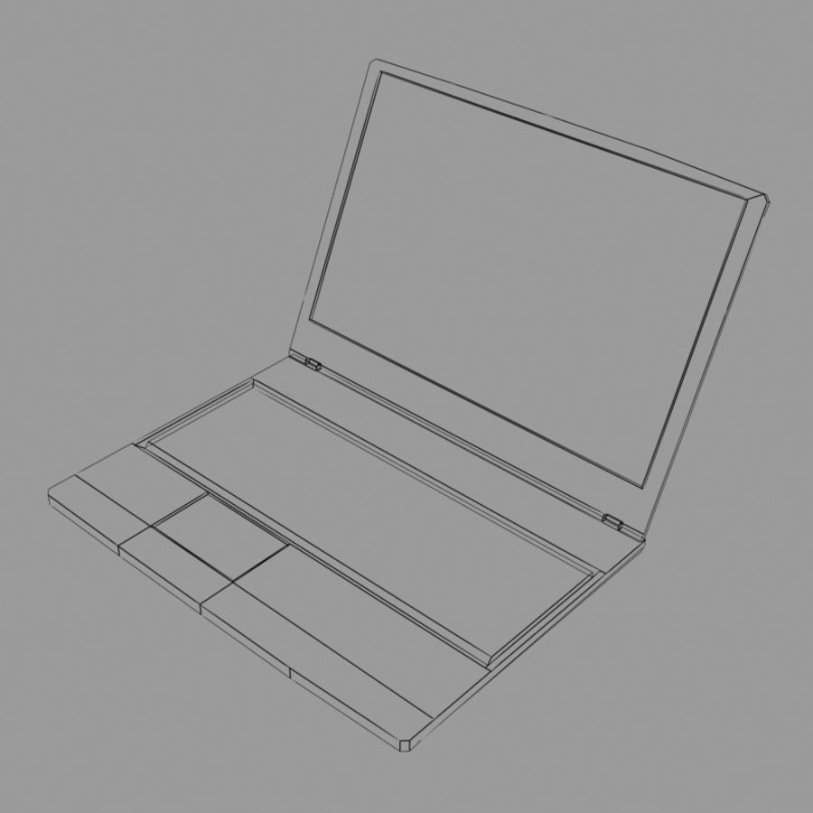 Msi Notebook Laptop royalty-free 3d model - Preview no. 6