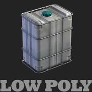 プラスチック缶 - 低ポリモデル 3d model