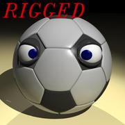 Voetbal karakter 3d model