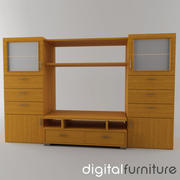 TV Furniture Wall System 01 3d model