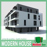 Modern House 00 3d model