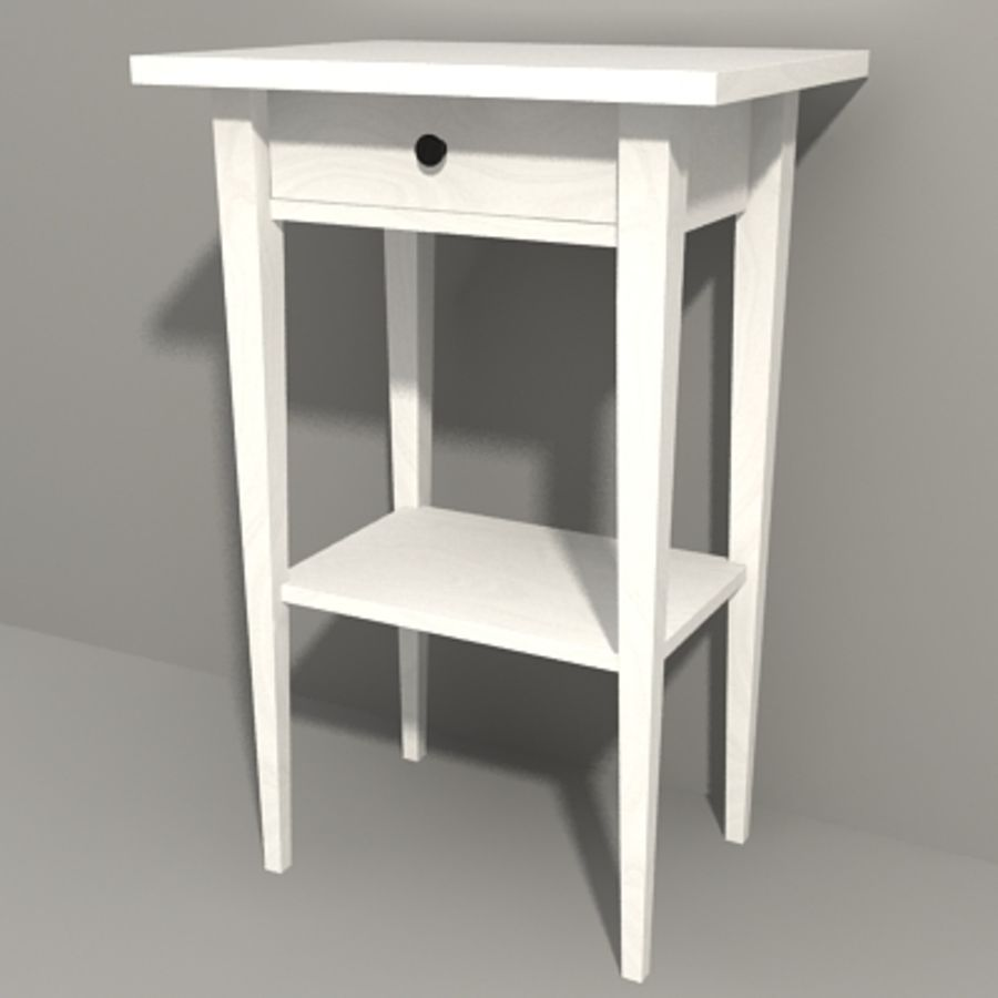 Ikea Hemnes Bedside royalty-free 3d model - Preview no. 9