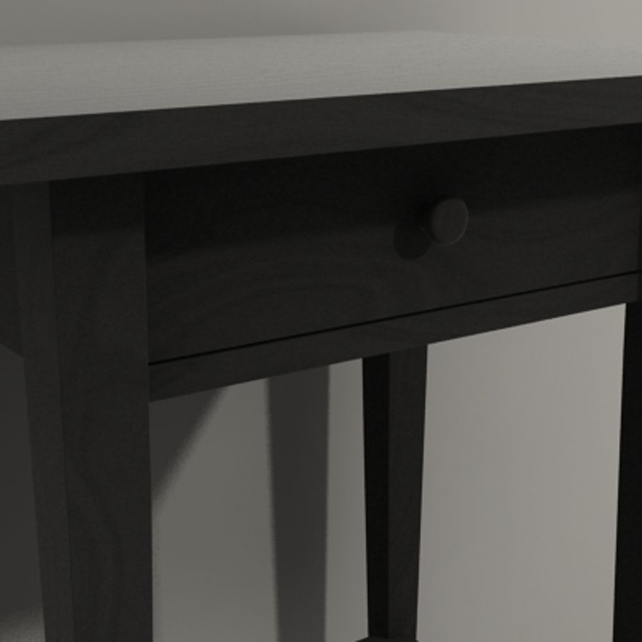 Ikea Hemnes Bedside royalty-free 3d model - Preview no. 3