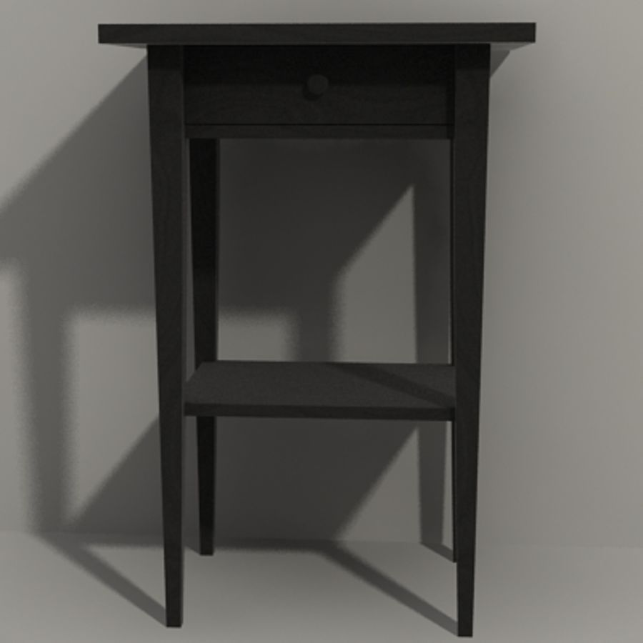 Ikea Hemnes Bedside royalty-free 3d model - Preview no. 5