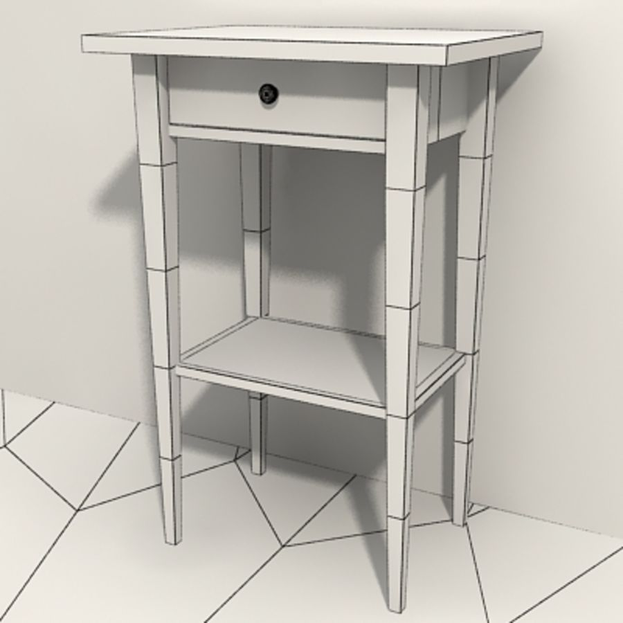 Ikea Hemnes Bedside royalty-free 3d model - Preview no. 12