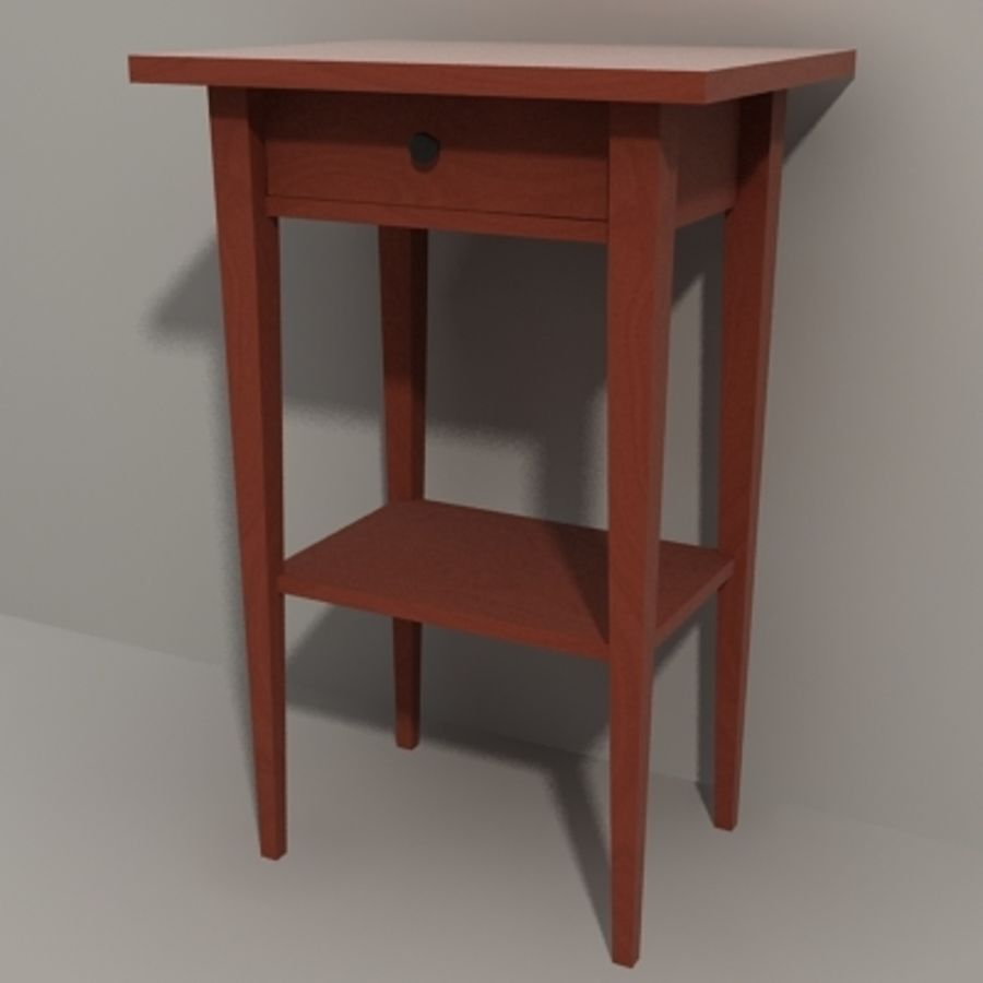 Ikea Hemnes Bedside royalty-free 3d model - Preview no. 7