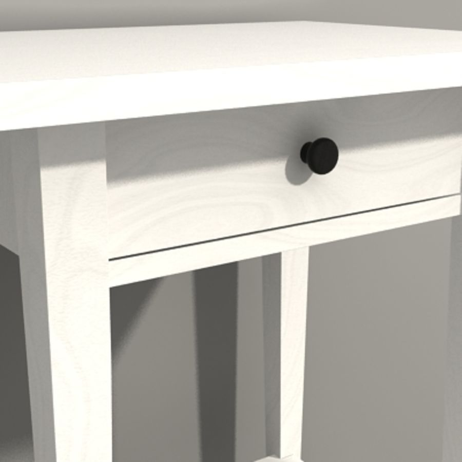 Ikea Hemnes Bedside royalty-free 3d model - Preview no. 10