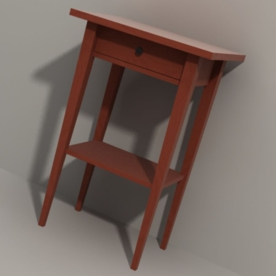 Ikea Hemnes Bedside royalty-free 3d model - Preview no. 6
