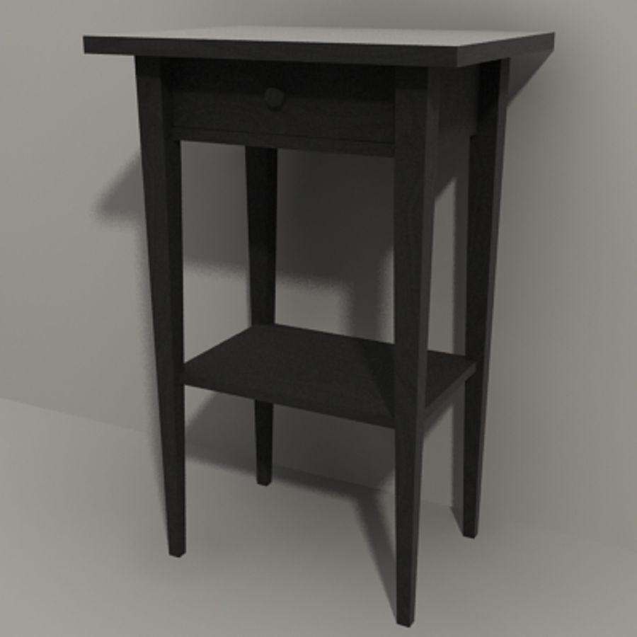 Ikea Hemnes Bedside royalty-free 3d model - Preview no. 2