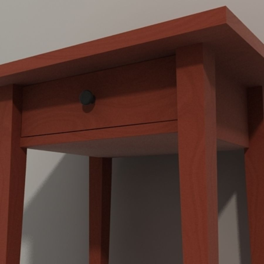 Ikea Hemnes Bedside royalty-free 3d model - Preview no. 8