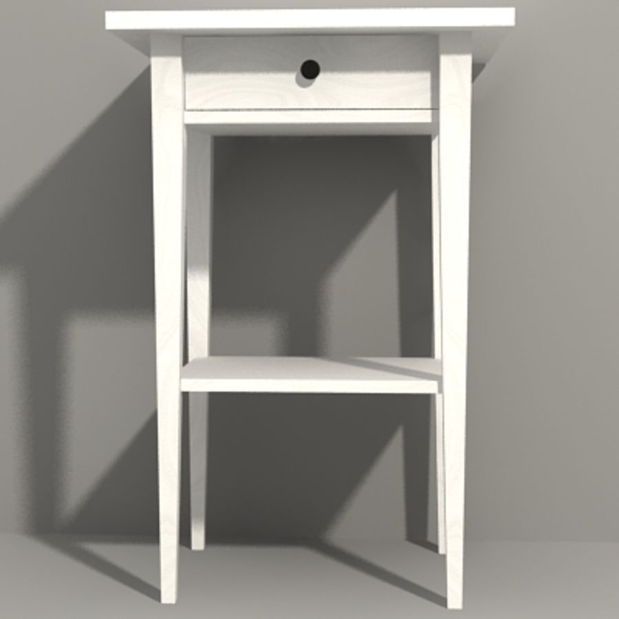 Ikea Hemnes Bedside royalty-free 3d model - Preview no. 11