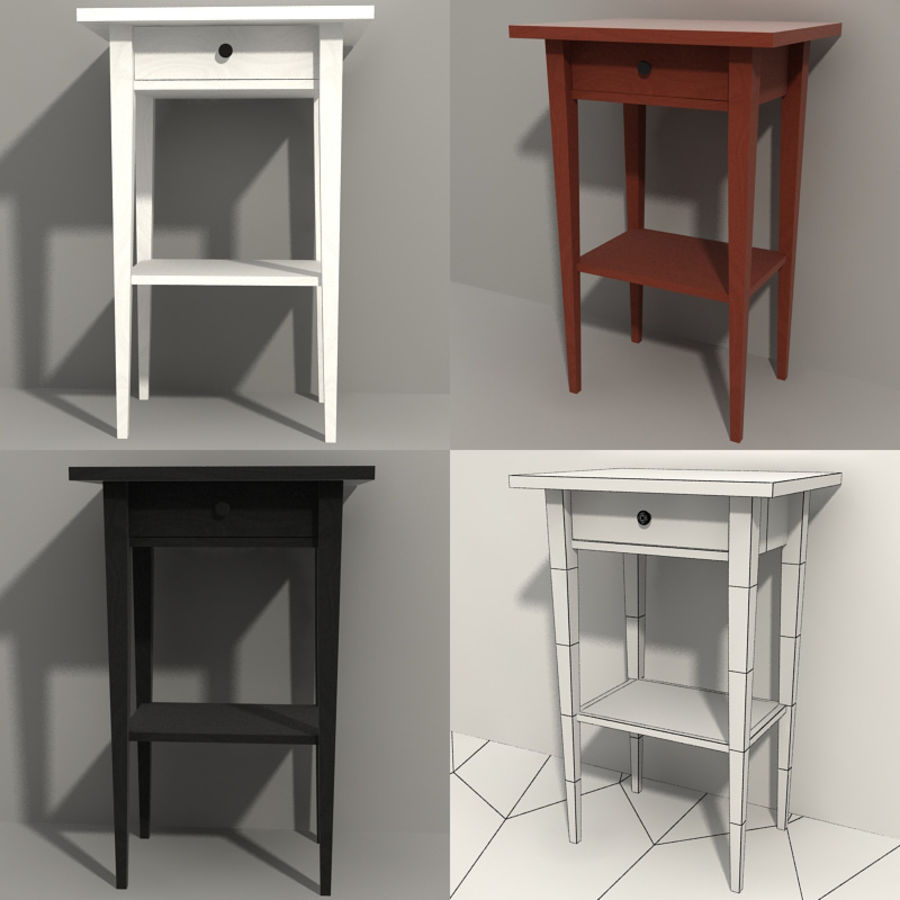 Ikea Hemnes Bedside royalty-free 3d model - Preview no. 1