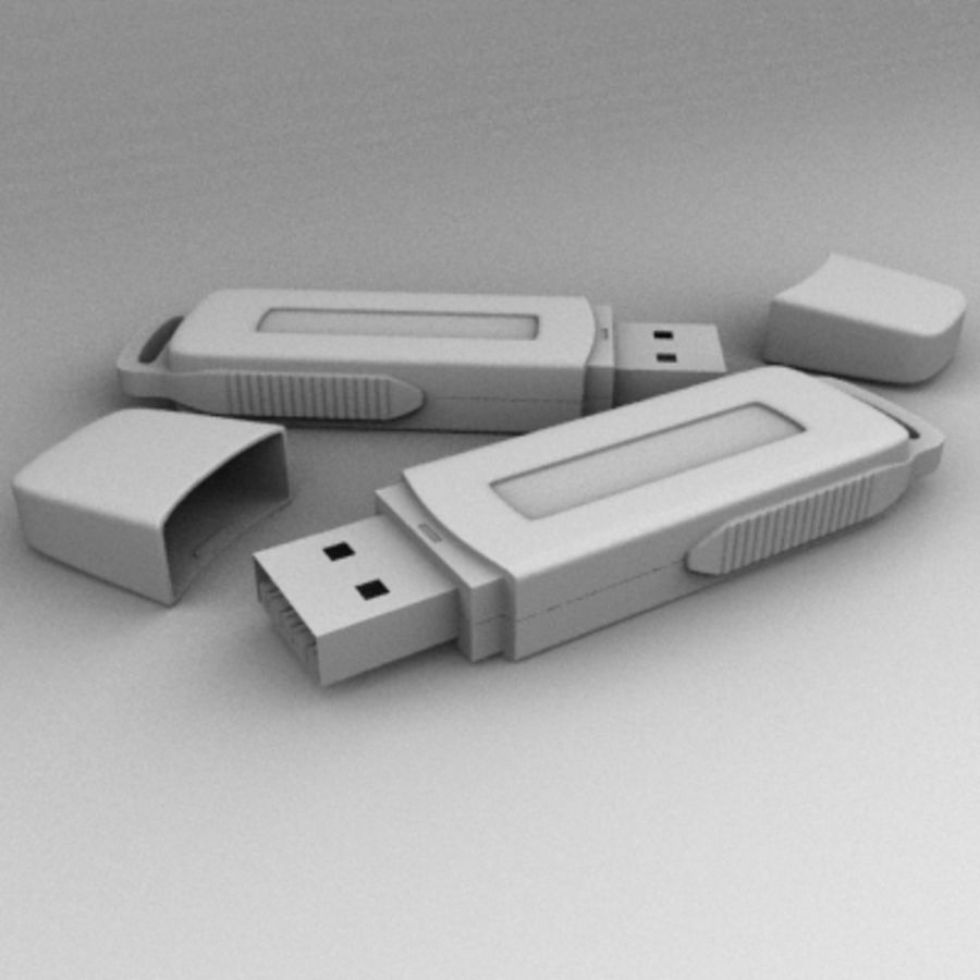 USB Kingston royalty-free 3d model - Preview no. 4