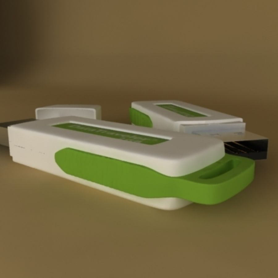 USB Kingston royalty-free 3d model - Preview no. 3