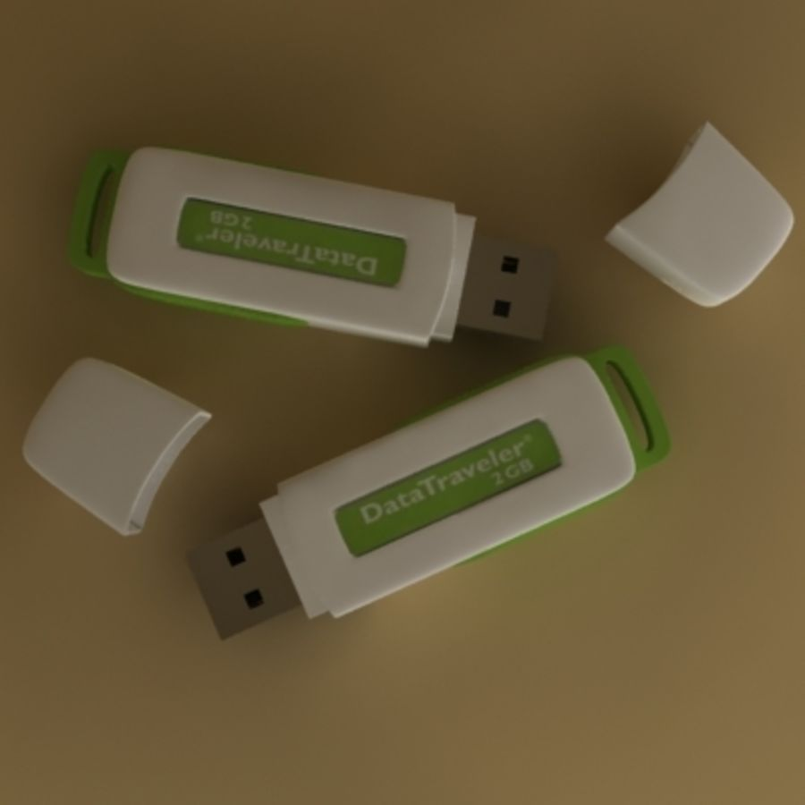 USB Kingston royalty-free 3d model - Preview no. 2
