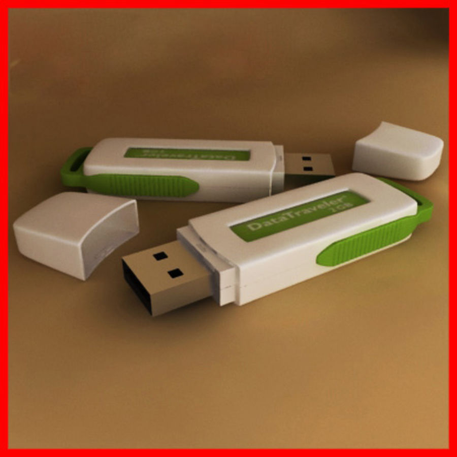 USB Kingston royalty-free 3d model - Preview no. 1