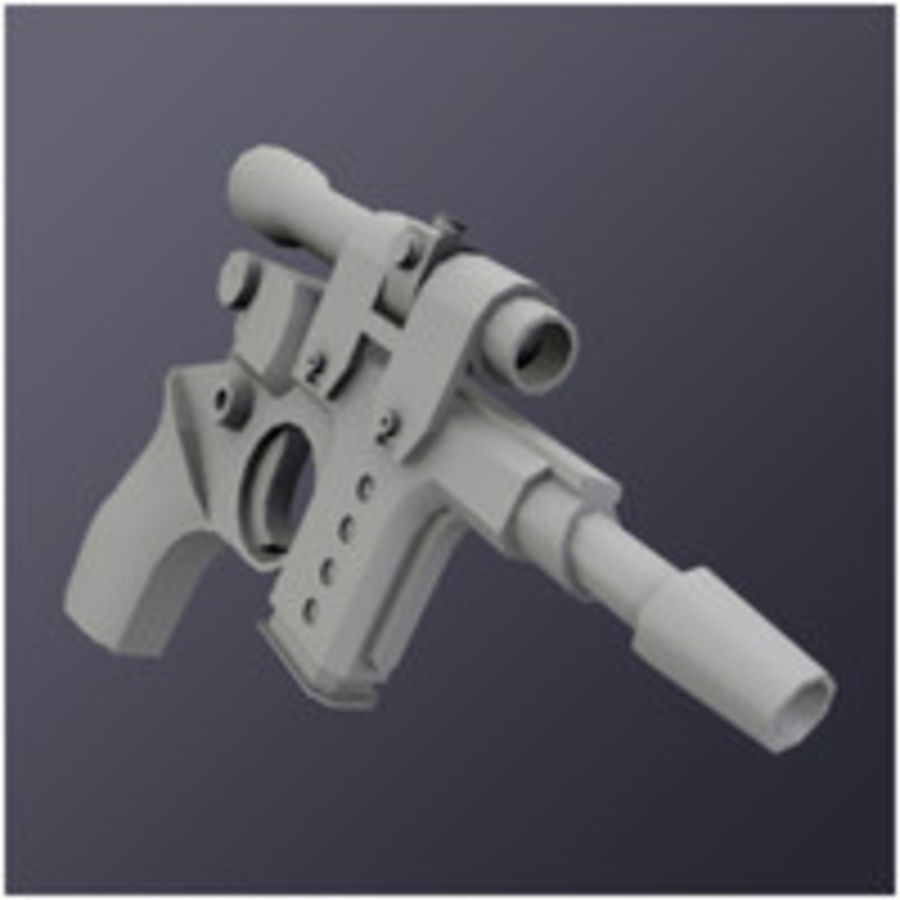 Kompaktowy pistolet laserowy (LD) royalty-free 3d model - Preview no. 5