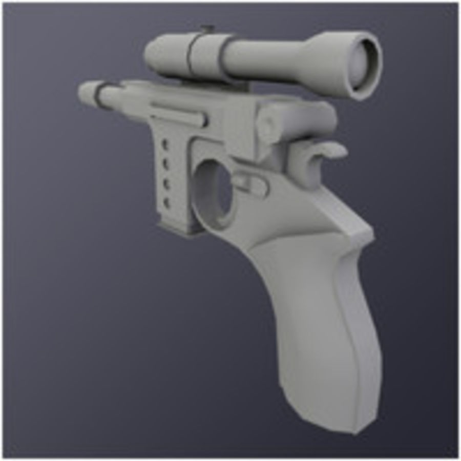 Kompaktowy pistolet laserowy (LD) royalty-free 3d model - Preview no. 2