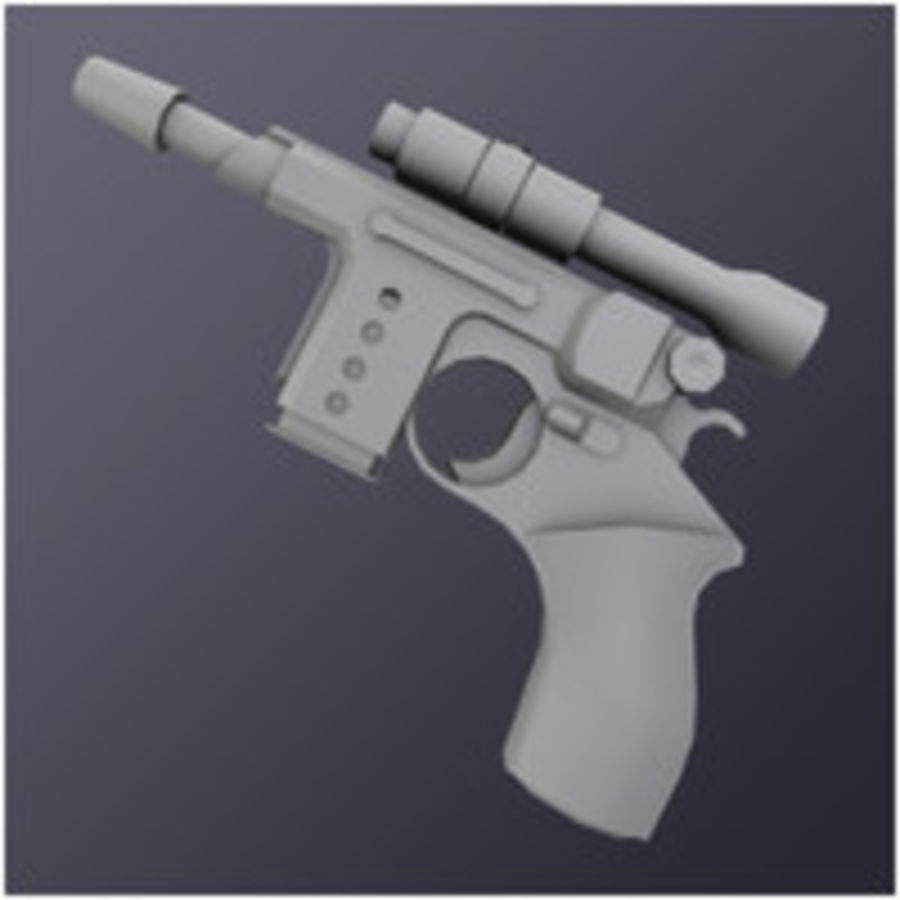 Kompaktowy pistolet laserowy (LD) royalty-free 3d model - Preview no. 1