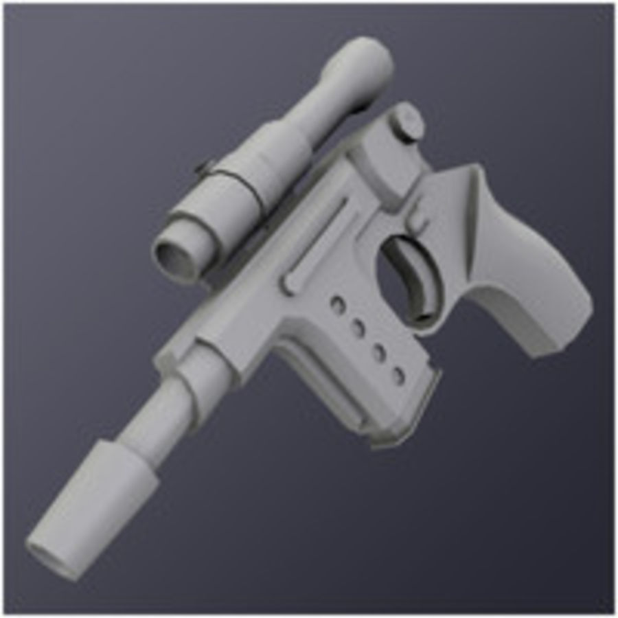 Kompaktowy pistolet laserowy (LD) royalty-free 3d model - Preview no. 6