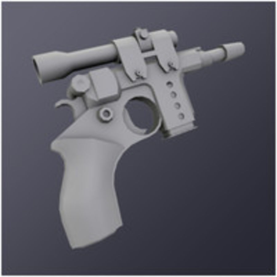 Kompaktowy pistolet laserowy (LD) royalty-free 3d model - Preview no. 3