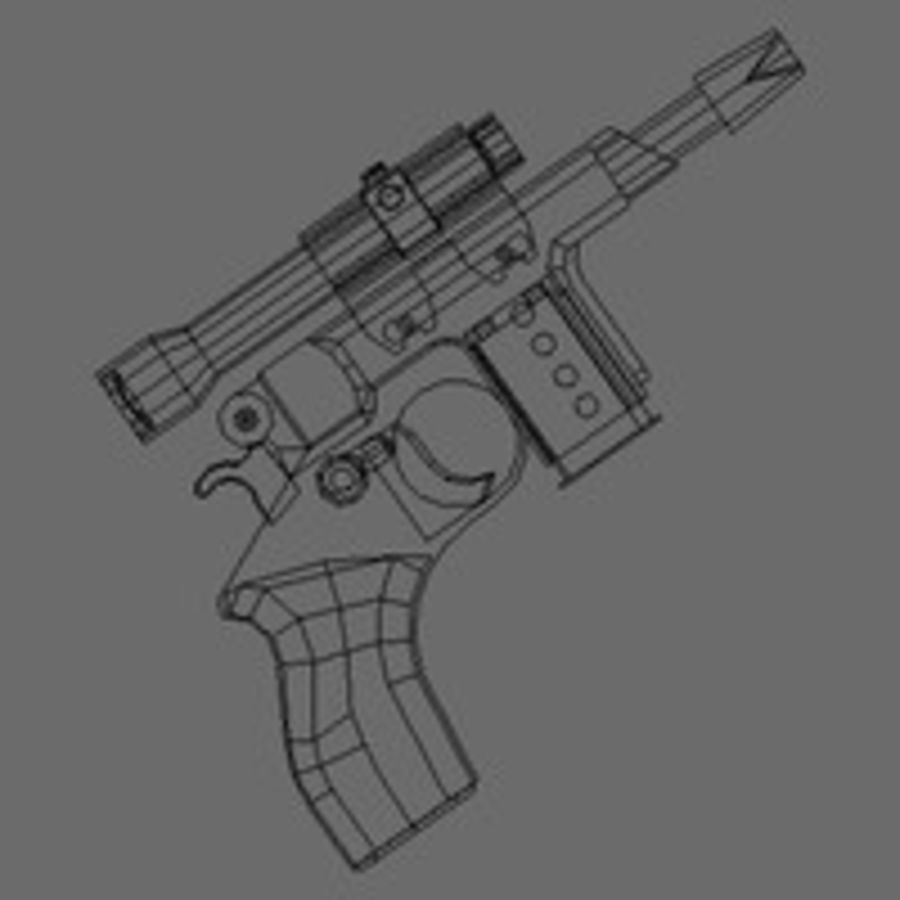 Kompaktowy pistolet laserowy (LD) royalty-free 3d model - Preview no. 7