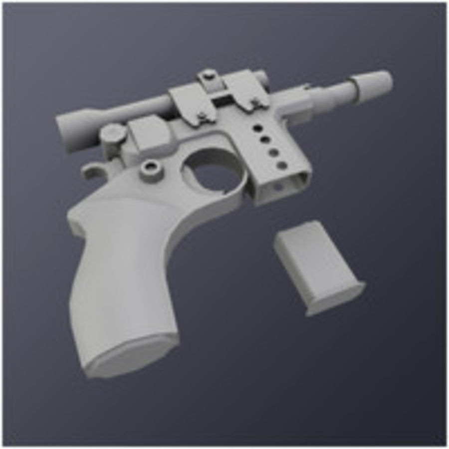 Kompaktowy pistolet laserowy (LD) royalty-free 3d model - Preview no. 4