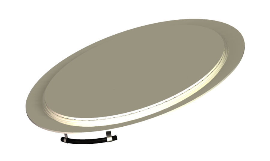 Silver Serving tray royalty-free 3d model - Preview no. 5