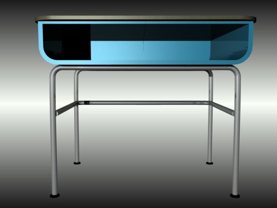 Desk royalty-free 3d model - Preview no. 2