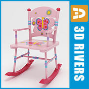 Kids rocking chair by 3DRivers 3d model