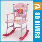 3DRivers tarafından Çocuk sallanan sandalye 3d model