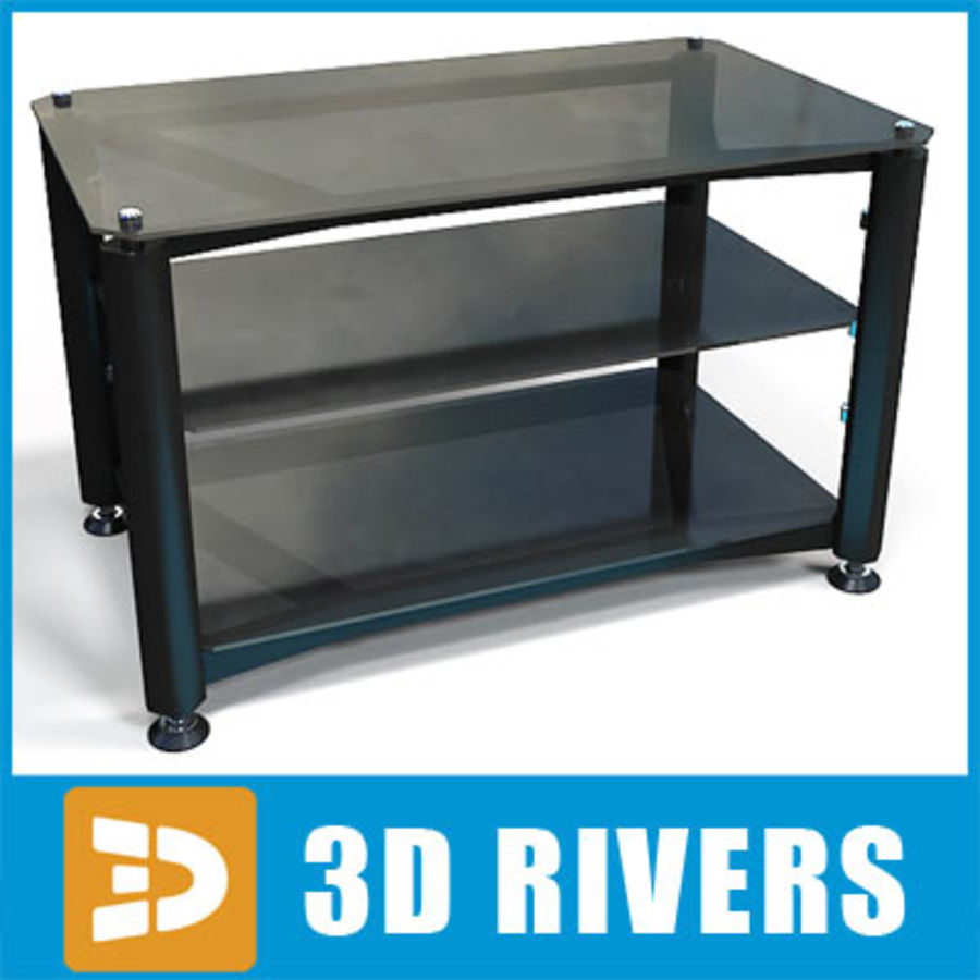 Tv table de 3DRivers royalty-free modelo 3d - Preview no. 1