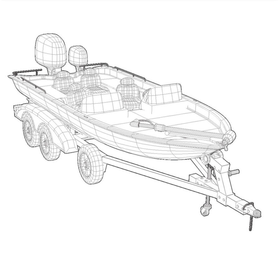 Boat 001 royalty-free 3d model - Preview no. 4