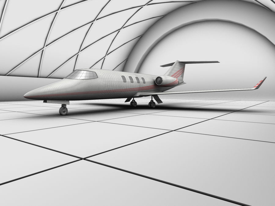 LeBombardier LearJet - HighRes royalty-free 3d model - Preview no. 2