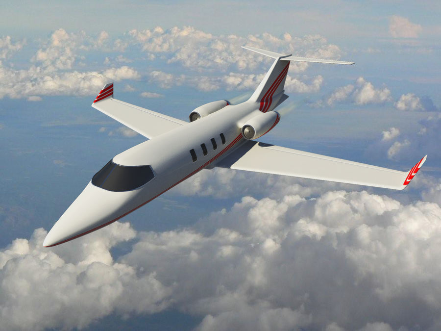 LeBombardier LearJet - HighRes royalty-free 3d model - Preview no. 1