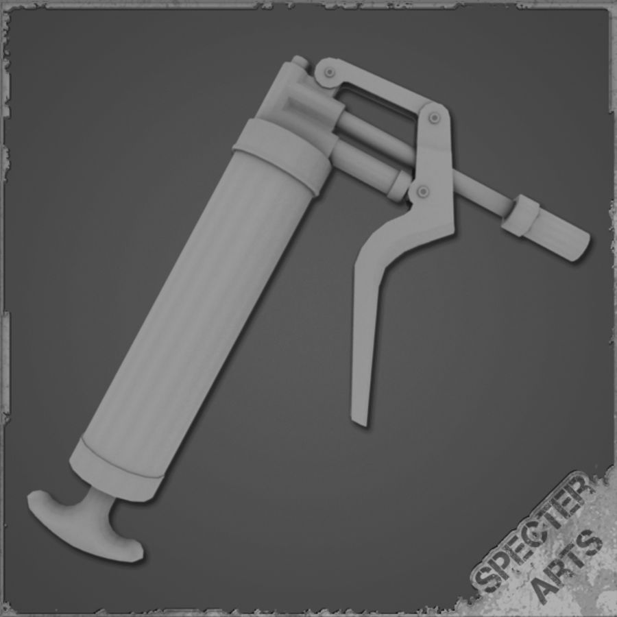 Grease gun royalty-free 3d model - Preview no. 1