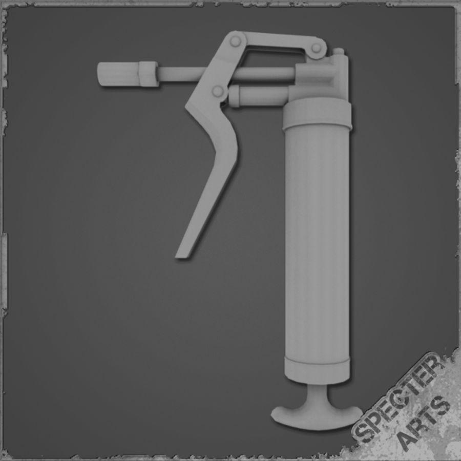 Grease gun royalty-free 3d model - Preview no. 11