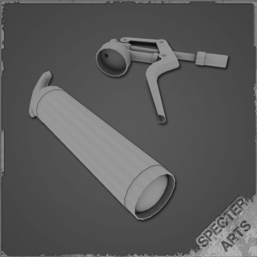 Grease gun royalty-free 3d model - Preview no. 4