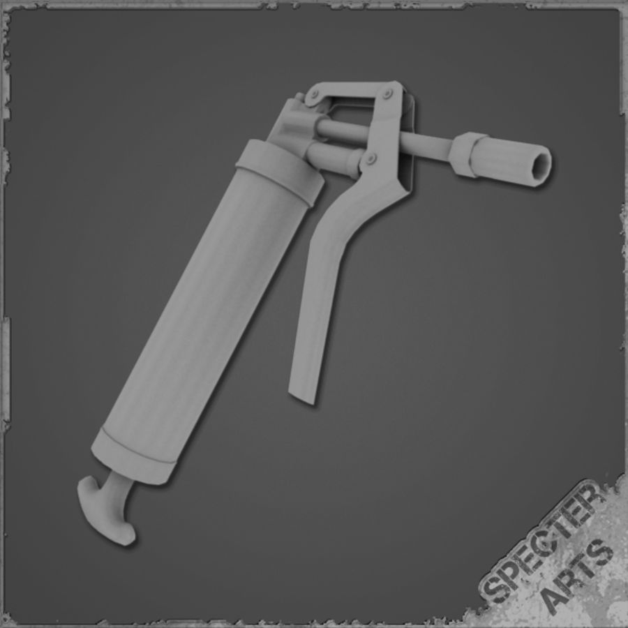 Grease gun royalty-free 3d model - Preview no. 2