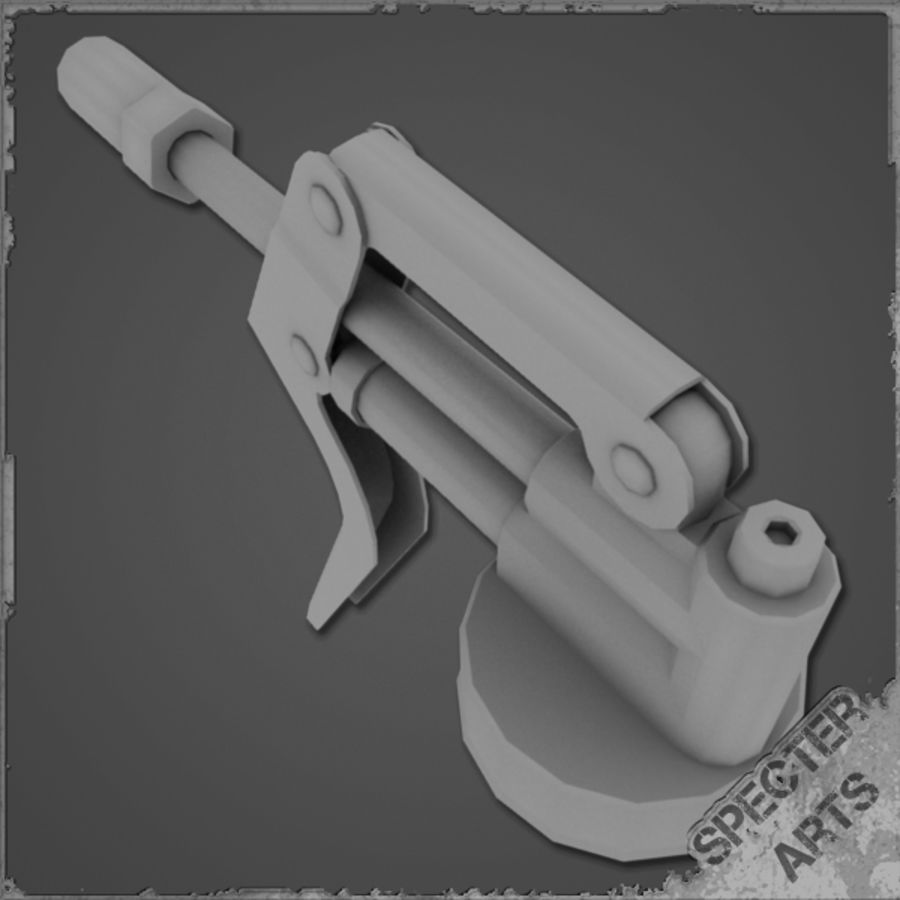 Grease gun royalty-free 3d model - Preview no. 9