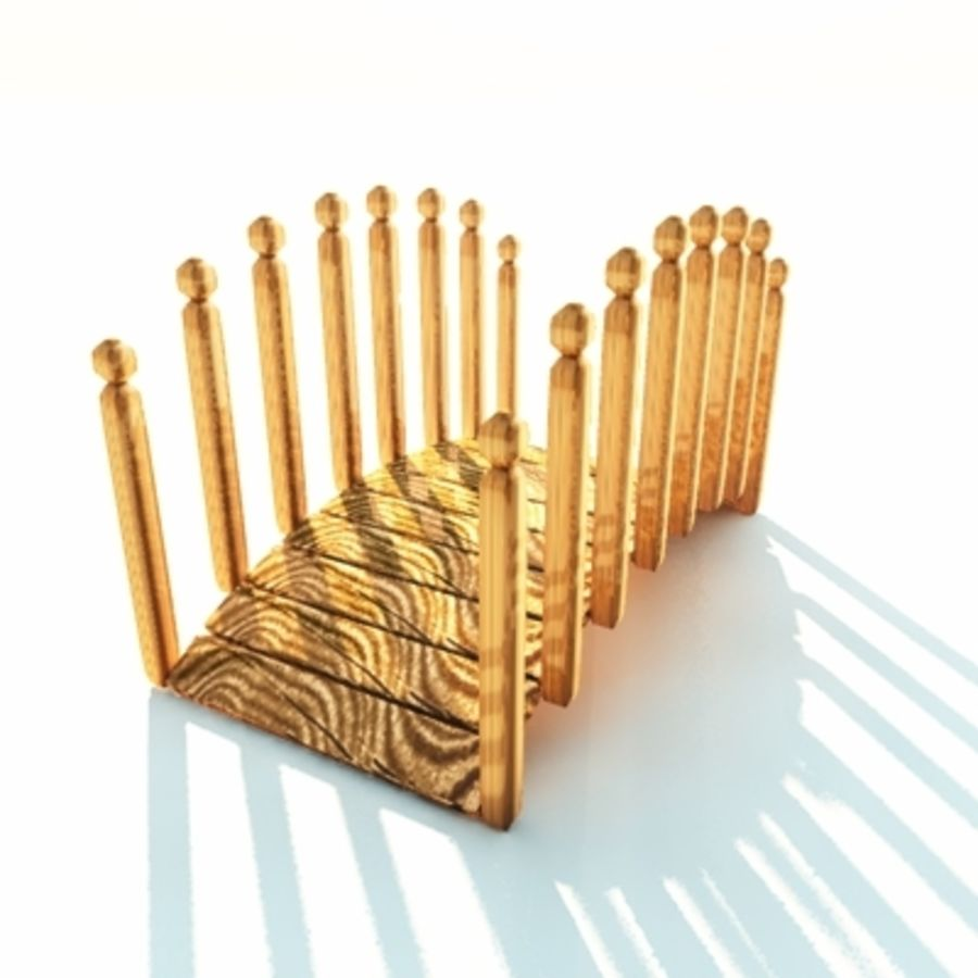 wooden bridge japanese royalty-free 3d model - Preview no. 1