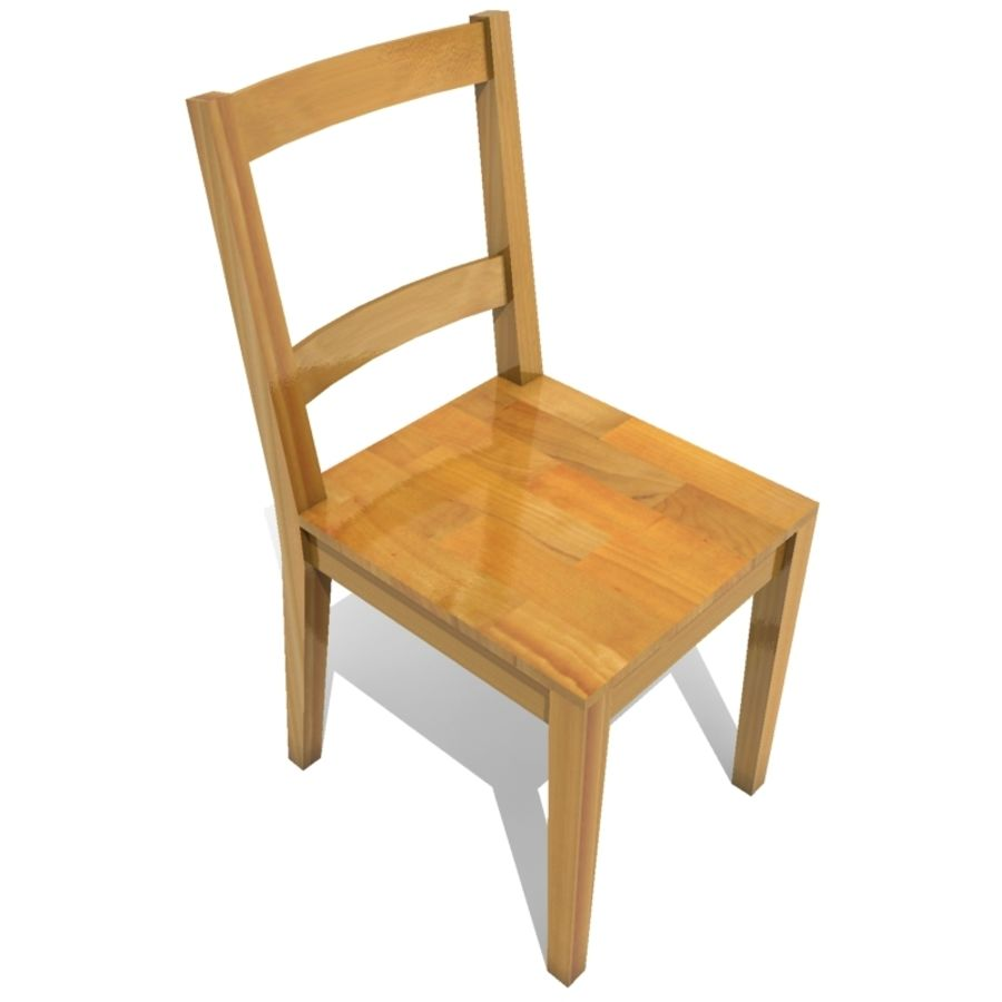 tavolo da pranzo e sedie 01 royalty-free 3d model - Preview no. 2