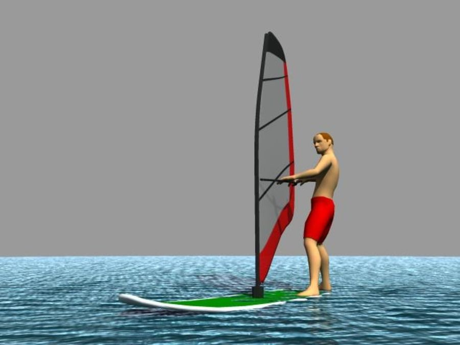 Windsurfer.zip royalty-free 3d model - Preview no. 1