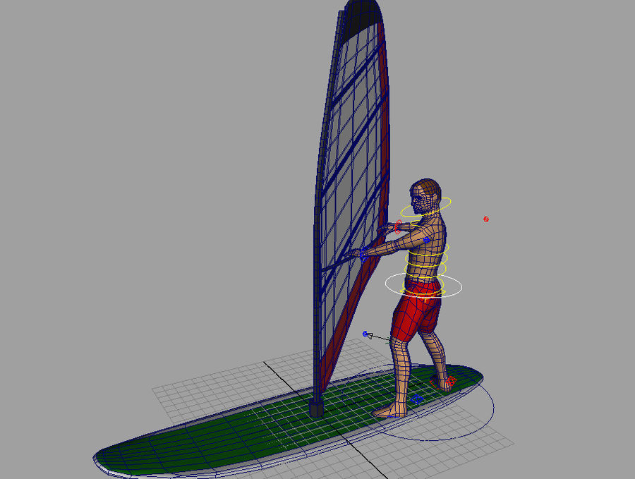 Windsurfer.zip royalty-free 3d model - Preview no. 3