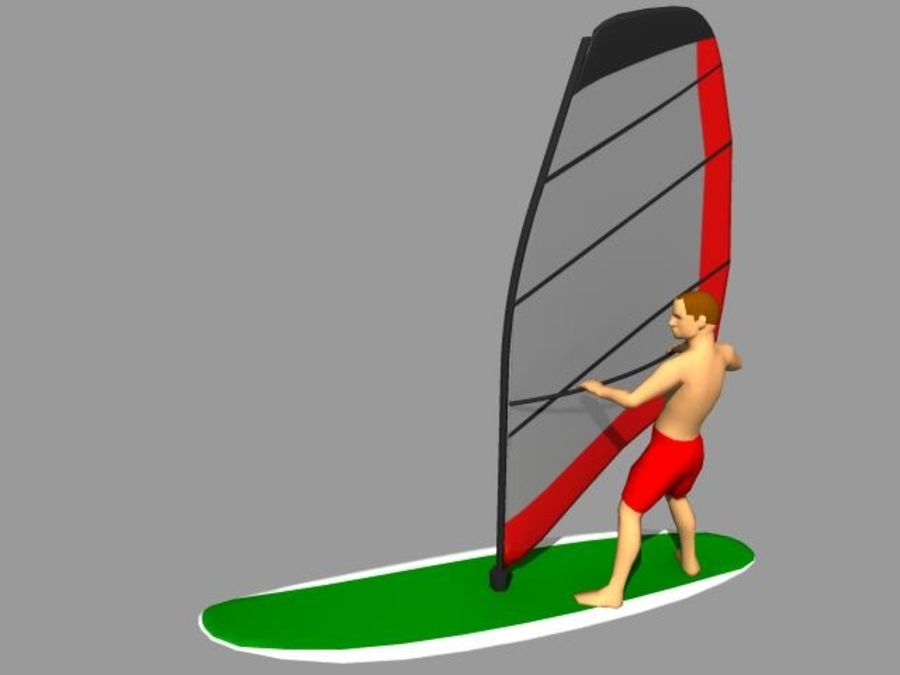 Windsurfer.zip royalty-free 3d model - Preview no. 2